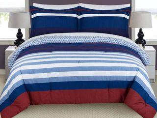 Nautical Stripe Full Queen Comforter Set Bedding