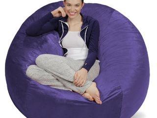 5 ft Sofa Sack Microsuede Purple