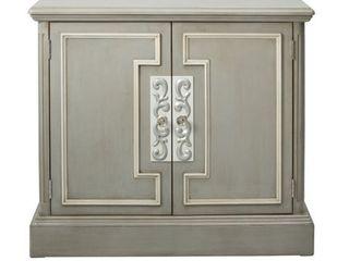 Delacora Hm Ds D115005 40  Wide Hardwood Cabinet   Grey