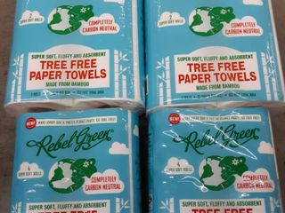 Rebel Green   Carbon Neutral   Super Soft Toliet Paper and Paper Towels Bundle   Made From Bamboo