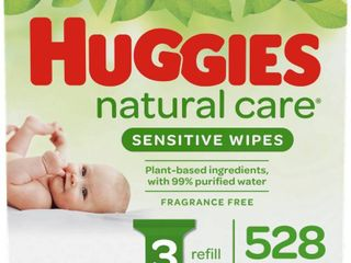 Huggies Natural Care Sensitive Unscented Baby Wipes   528ct