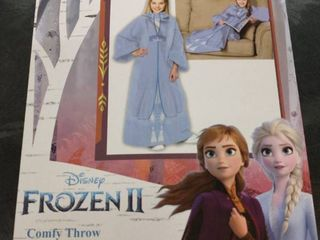 Frozen 2 Elsa Fall Gown Youth Comfy Throw Blanket With Sleeves