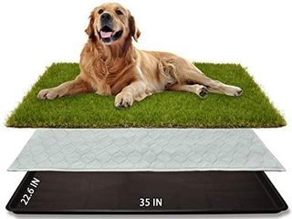Dog Grass large Potty Patch  35 X22 6  Artificial Dog Grass Bathroom Turf for Pet Training  Washable Puppy Pee Pad  Perfect Indoor Outdoor Portable Potty Pet loo RETAIl PRICE 69 99