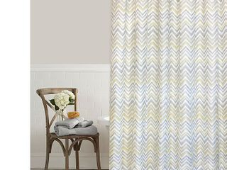 Colordrift Chevron Mirage 54 Inch x 78 Inch Shower Curtain in Yellow