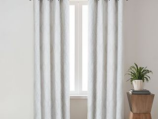 Olivia   Oliver Zander Geo 50  X 84  Grommet Window Curtain Panel In Navy