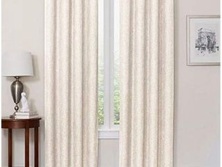 Quinn 54 Inch Grommet Top 100  Blackout Window Curtain Panel in Ivory