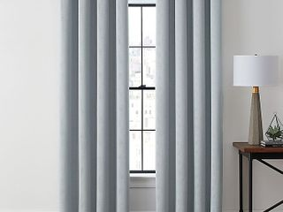 Brookstone Zadie 84in Grommet 100  Total Blackout Window Curtain Panel Gray