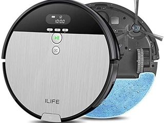 IlIFE V8s Automatic Vaccuum Cleaner  2 in 1 Robot Vacuum and Mop  Big 750ml Dustbin Enhanced Suction Inlet Zigzag Cleaning Path Ideal for Pet Hair Self Charging Robotic Vacuum  lCD Display Schedule Ideal for Hard Floor Retail   219 00