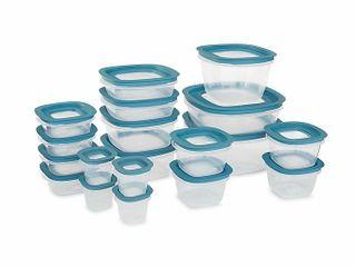 Rubbermaid 38 piece Flex And Seal Food Storage Set   Aqua Pba free