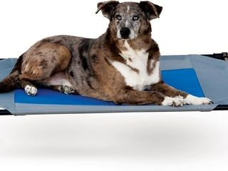 Pet Products Original Pet Cot  Elevated Dog Bed Cot With Mesh Center In Blue Retail   71 99