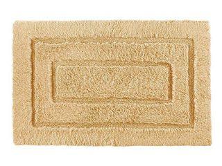 Kassatex 100 Percent Egyptian Cotton Kassa Design Bath Rug  20 by 32 Inch  Gold
