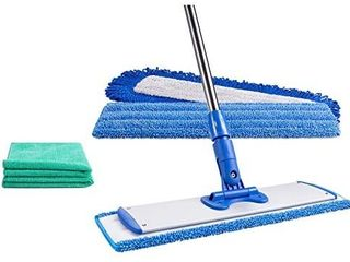 18  Professional Microfiber Mop   Reusable Washable Mop Pads   Wet   Dust Mopping Hardwood  laminate  Tile    Vinyl Floors   Adjustable Stainless Steel Handle   2 Free Microfiber Cloths retail price  39 98