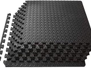 One Dozen 24 1 2 Amazon Black Foam Tiles