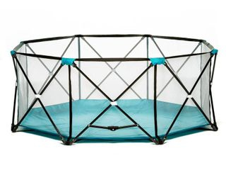 Regalo My PlayAr Portable Playard Indoor and Outdoor with Carry Case and Adjustable Washable  Teal  8 Panel