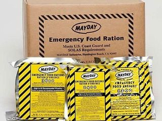 Mayday Food Bars Emergency 3600 Calorie Food Bars  20 per case  weight 39 lbs  RETAIl PRICE 148 95