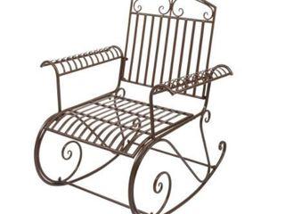 38  Bent Armrest Single Rocking Chair Dark Brown  Retail 85 49