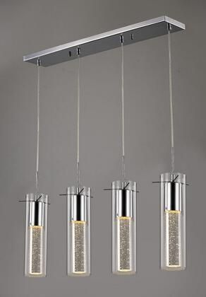 Chrome Metal Pendant lighting with Clear Glass Shades  Retail 301 49