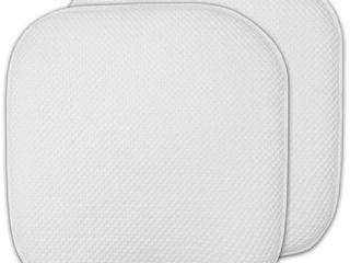 16x16 Memory Foam Non slip Chair Pad Seat Cushion Set