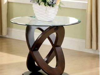 Furniture of America Faza Crossed Oval End Table  Retail 239 99