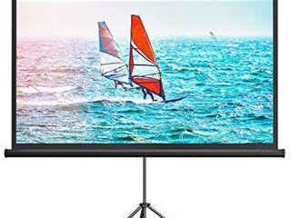 TaoTronics Projector Screen with Stand  Indoor Outdoor PVC Projection Screen 4K HD 100  16 9