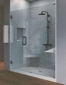 Hinged Frameless Shower Door  Panel Door Not Included