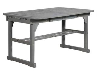 Extendable Outdoor Wood Patio Dining Table   Grey Wash