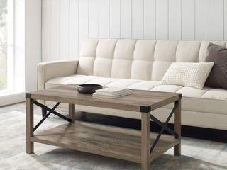 The Gray Barn Kujawa Metal X Coffee Table  Retail 166 99