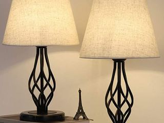 Bedroom And living Room Classic Table lamp Set of 2