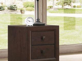 Carson Carrington Kaalaslupa Contemporary 2 Drawer Nightstand  Retail 126 47