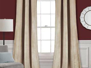 Prima Velvet Solid Room Darkening Window Curtain Panels Velvet  Wheat 38x84