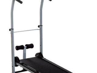 Soozier Folding 2 in 1 Manual Walking Treadmill