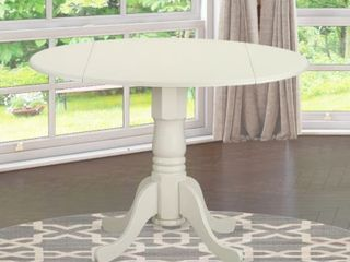 Dublin Round Table With 2 Drop leaves linen White