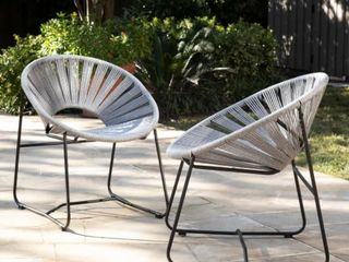 Holly   Martin Rondly Outdoor Rope Chairs   2pc Set  Retail 354 49