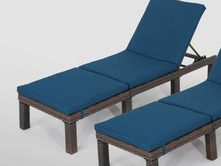 Jamaica Outdoor Chaise lounge with Cushion  Set of 1  by Christopher Knight Home  Retail 534 99