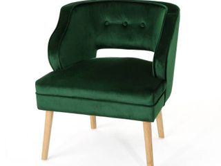 Mariposa Mid Century Velvet Accent Chair by Christopher Knight Home  Retail 183 99