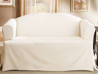 Sure Fit Cotton Classic T Cushion Sofa Slipcover  Retail 79 26
