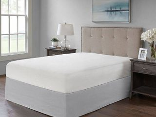 Gray Simple Fit Wrap Around Adjustable Bed Skirt