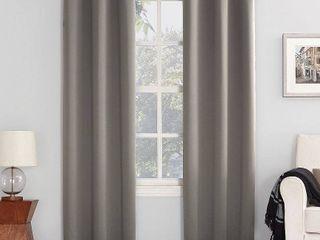 108 x54  Kenneth Energy Saving Blackout Grommet Top Curtain Panel Pair Gray   Sun Zero