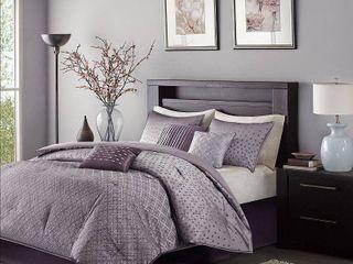Purple Hudson Comforter Set King 7pc