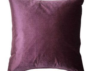 Pillow Decor   Corona Aubergine Velvet Pillow 19x19