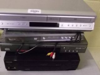 VHS DVD combo   DVD player   VHS player