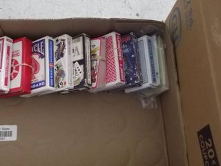 lot of decks of playing cards