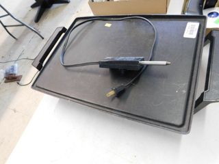 Electric griddle with power cord