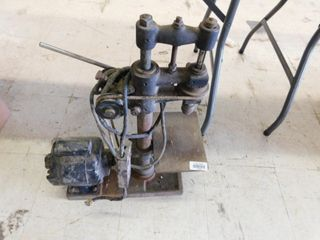 old electric belt driven drill press
