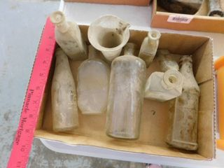 lot of old bottles and containers