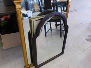 lot of 2 mirrors and framed print