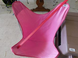 Pink cloth sling chair