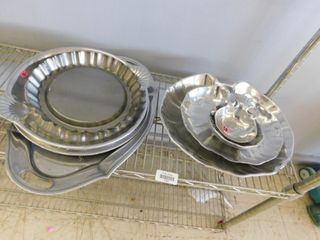 sliver plate serving tray lot