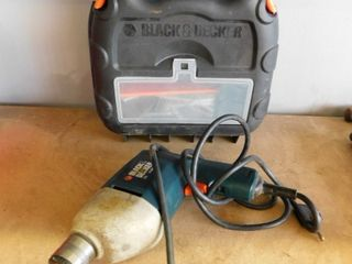 Black   Decker electric drill   mouse sander