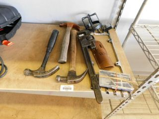 hammers   large pipe wrench